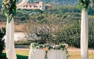 Arche fleurie pour cérémonie mariage