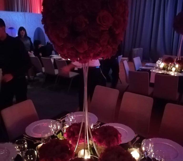 Diner gala centre de table fleurie